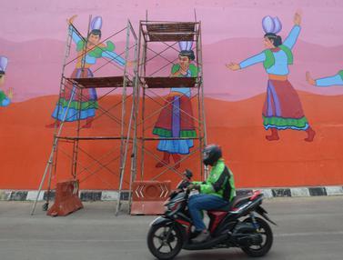 Warna-warni Mural di Flyover Gaplek Tangsel
