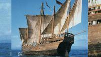Perahu bernama Niña ditumpangi oleh Christopher Columbus ketika kembali dari benua Amerika ke Eropa. (Sumber artvoice.com)