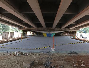 Menengok Pembangunan Skate Park di Kolong Flyover Pasar Rebo