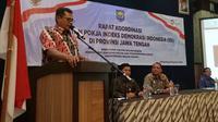 Rapat koordinasi penguatan Pokja Indeks Demokrasi Indonesia tanggal 28 Agustus 2018 di Pandanaran Hotel Semarang.