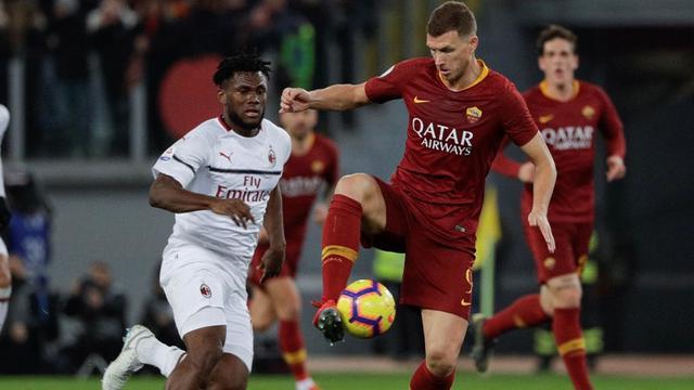 Duel AS Roma Vs AC Milan Berakhir Tanpa Pemenang