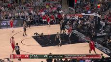 Berita video game recap NBA 2017-2018 antara San Antonio Spurs melawan Houston Rockets dengan skor 100-83.