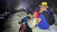 Ridwan Kamil dan Keluarga berwisata ke Kawah Ijen di Banyuwangi (Liputan6.com/Istimewa)