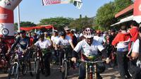 2.000 pesepada ikut Gowes Nusantara 2019 di Cirebon yang menempuh jarak 15 km (istimewa)