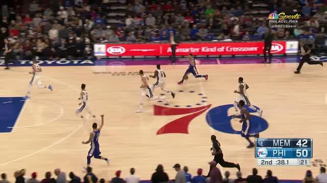 Berita video game recap NBA 2017-2018 antara Philadelphia 76ers melawan Memphis Grizzlies dengan skor 119-105.