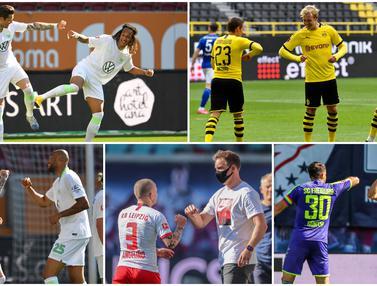 Selebrasi Jaga Jarak Bundesliga