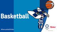Banner Basket Olimpiade Tokyo 2020. (Foto: Vidio)