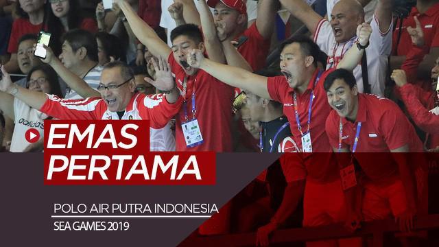 Berita video Indonesia meraih medali emas pertama di SEA Games 2019 dari cabang polo air putra pada Jumat (29/11/2019).