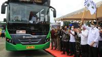 Menhub Budi Karya Sumadi mengatakan, BTS merupakan program yang didedikasikan untuk kenyamanan dan keamanan masyarakat menggunakan transportasi umum