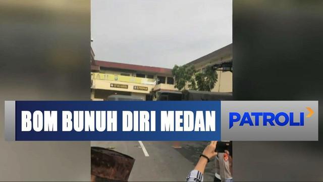 Ledakan terjadi di Polrestabes Medan yang diduga merupakan bom bunuh diri.