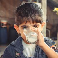 ilustrasi anak minum susu/copyright Pexels/samer daboul