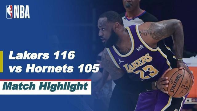 Berita video highlights NBA, LA Lakers taklukkan Charlotte Hornets 116-105, Jumat (19/3/21).