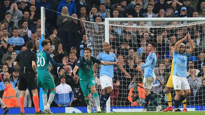 Manchester City Vs Tottenham: Goal Kontroversial Llorente Dan Sterling Jadi Sorotan