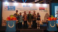 Yogyakarta terpilih sebagai kota penyelenggara Kejuaraan Dunia Bulutangkis Junior 2017 yang akan digelar di GOR Among Rogo pada 9-22 Oktober. (Bola.com/Zulfirdaus Harahap)
