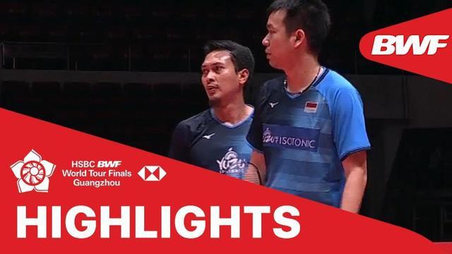 Berita video match highlights BWF World Tour Finals 2019 untuk nomor ganda putra, di mana Mohammad Ahsan / Hendra Setiawan (The Daddies) kalah dari pasangan Chinese Taipei, Lee Yang / Wang Chi-Lin, Jumat (13/12/2019).