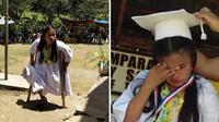 Kisah Jean Arija Daipal tempuh 2 km dengan satu kaki demi bisa sekolah (Sumber: Facebook/Junar T Mahilum)