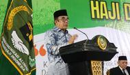 embuka Lomba Dakwah Haji dan Lomba Cerdas Tangkas Haji dan Umrah di Pondok Pesantren Darunnajah Jakarta. Sabtu (7/3/2020). (Foto:Liputan6/Istimewa)