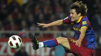 Bojan Krkic adalah produk Akademi La Masia. Bojan menjadi anggota tim Barcelona senior saat berusia 17 tahun dan bermain dalam 104 partai dan mencetak 26 gol dalam empat musim. (AFP/Jorge Guerrero)