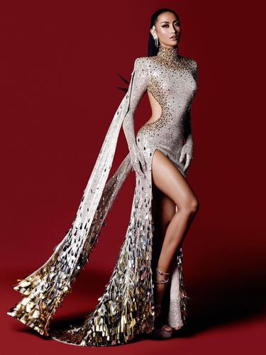 Potret Penampilan Ayu Maulida di Grand Final Miss Universe 2020, Raih Posisi Top 21. (Sumber: Instagram/officialputeriindonesia)
