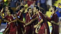 Selebrasi timnas Spanyol (AFP)