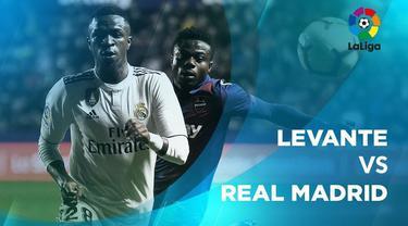 Berita video statstik Levante vs Real Madrid pada laga pekan ke-25 La Liga 2018-2019, Senin (25/2/2019).