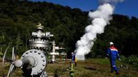 PLTP Karaha dijadwalkan bisa mensuplai listrik ke Perusahaan Listrik Negara (PLN) pada akhir 2016 mendatang, (19/4/2014). (REUTERS/Beawiharta)