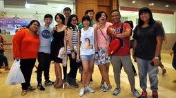 Project Pop saat ditemui di Indonesia Convention Exhibition (ICE) untuk menonton konser Katy Perry, Tangsel (9/5/2015). (Liputan6.com/Panji Diksana)