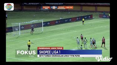 Tuan rumah Madura United berhasil kandaskan Borneo FC di Stadion Batu Pamelingan, pada Selasa (28/5) malam.
