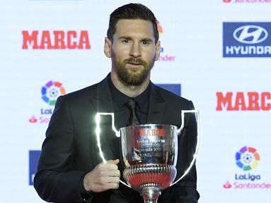 Selama memperkuat Barcelona, Lionel Messi telah 8 kali menjadi top skor di LaLiga. Bahkan, 5 musim terakhir La Pulga lima kali beururutan menjadi El Pichichi. Kini, setelah resmi meninggalkan Barcelona, gelar tersebut akan ramai diperebutkan. Siapa saja? (Foto: AFP/Lluis Gene)