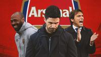 Arsenal - Thierry Henry, Mikel Arteta, Antonio Conte (Bola.com/Adreanus Titus)
