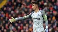 3. Kepa Arrizabalaga (Chelsea FC) - 36 pertandingan, 14 clean sheet (AFP/Paul Ellis)