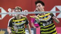 Kevin Sanjaya/Marcus Gideon di Fuzhou China Open 2018. (AFP)
