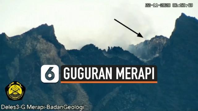 Aktivitas gunung Merapi masih tinggi ditandai dengan sejumlah pergerakan vulkanik. Kamera berhasil merekam salah satu  aktivitas guguran tebing lava di puncak Gunung Merapi.
