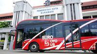 Pemkot Surabaya baru saja mendatangkan delapan armada bus canggih yang bernama Suroboyo Bus (Dian Kurniawan/Liputan6.com)