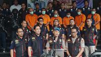 Ketua Satuan Satgas Anti Mafia Bola, Brigjen Hendro Pandowo saat menggelar jumpa pers di Polda Metro Jaya, Kamis (28/11/2019). (Adi Anuegrahadi)