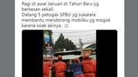 Honda CR-V Milik Menteri Agama Mogok di Jalan (Foto: Twitter)