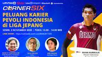 Banner Live Streaming Peluang Karier Pevoli Indonesia di Liga Jepang. (Liputan6.com/Triyasni)