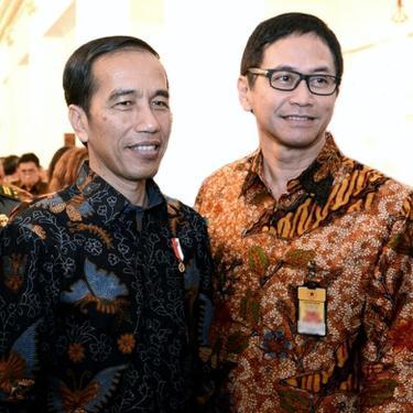 Addie MS dan Presiden Joko Widodo.