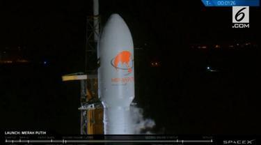 Satelit Merah Putih lepas dari roket yang membawanya dari ketinggian 500 kilometer dengan kecepatan 33.920 kilometer per jam.