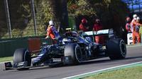 Aksi Valtteri Bottas di sesi kualifikasi F1 Emilia Romagna (AP)