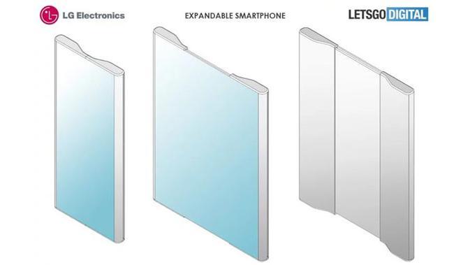 Paten smartphone layar lipat milik LG. (Doc: LetsGoDigital)