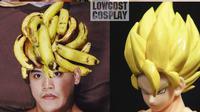 7 Potret Cosplay Low Budget Pakai Pisang Ini Kocak, Kreatif Banget (sumber: Instagram.com/lowcost_cosplay)