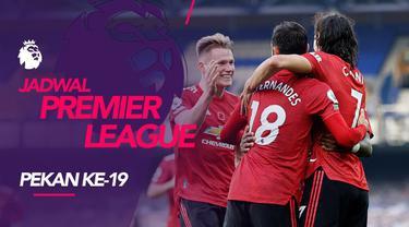 Berita motion grafis jadwal Liga Inggris 2020/2021 pekan ke-19, Manchester United tantang Liverpool di Anfield, Minggu (17/1/2021).