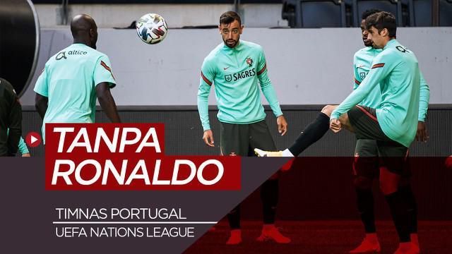 Berita Video timnas Portugal jalani sesi latihan jelang pertandingan melawan Swedia di UEFA Nations League tanpa Cristiano Ronaldo yang absen akibat COVID-19
