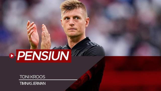 Berita video Toni Kroos putuskan pensiun dari timnas Jerman usai gagal di Euro 2020.