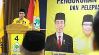 Anggota DPR dari Fraksi Partai Golkar Mukhamad Misbakhun membagi ilmunya kepada para calon anggota legislatif dari Golkar di Pasuruan. (Istimewa)