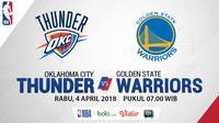 Oklahoma City Thunder Vs Golden State Warriors (Bola.com/Adreanus Titus)
