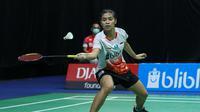 Gregoria Mariska Tunjung saat mengikuti PBSI Home Tournament, Rabu (22/7/2020). (Istimewa)
