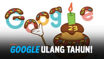 VIDEO: Google Ultah ke-23, Doodle Hadir Berbentuk Kue Coklat