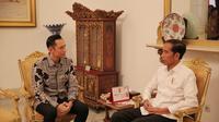 Presiden Jokowi bertemu dengan Ketua Kogasma Partai Demokrat Agus Harimurti Yudhoyono (AHY). (Foto: Michael Wicaksono_Kogasma PD)